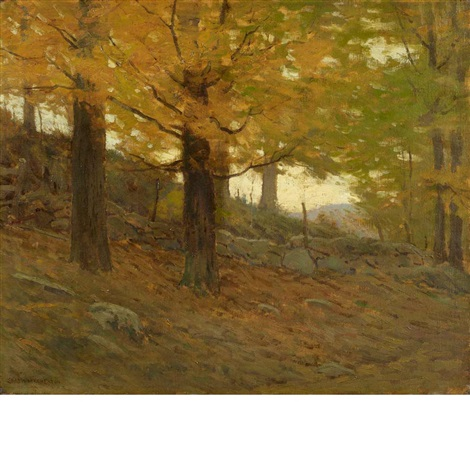 yellow leaf by charles warren eaton