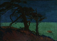 monterey coastal nocturne by pedro joseph lemos
