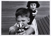 boy + gun + girl, new york by william klein