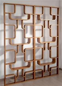 deux cloisons formant étagères by jindrich halabala