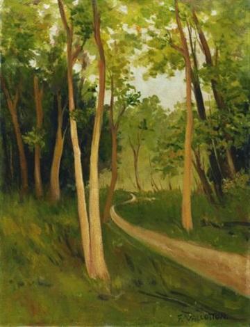 chemin au bois de boulogne track in the bois de boulogne by félix edouard vallotton