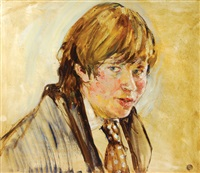 portrait of alexander fermor-hesketh by derek hill