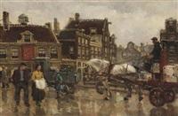 amsterdam street scene by frans langeveld