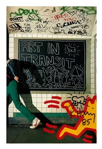 art in transit (baby radiant) by keith haring