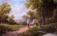 paisaje con campesina (landscape with countrywoman) by e. heaton