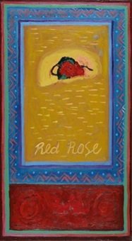 red rose by asad azi