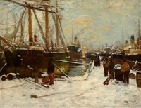 on a snow covered quay by james kay