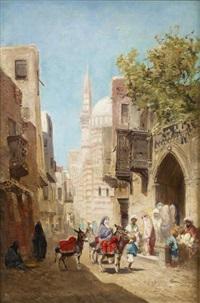 devant la mosquée by godefroy de hagemann