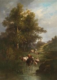 herde am fluss by antonio cortés cordero