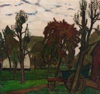 on the farmyard by léon de smet