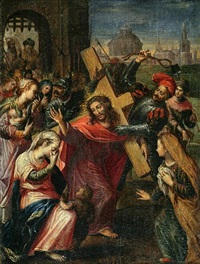 christ on the road to calvary by flemish school-bruges (16)