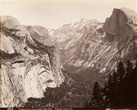 cathedral rock, yosemite valley (+ 2 others, lrgr; 3 works) by isaiah west taber