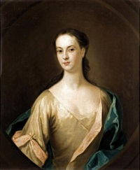 portrait of eupheme lockhart, 3rd wife of john, 6th earl of wigton by william aikman