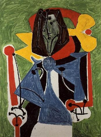 Femme assise Portrait de Francoise Gilot by Pablo Picasso on artnet