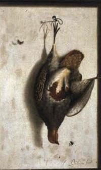trompe-l'oeil mit fasan by cornelis (bilcius) biltius