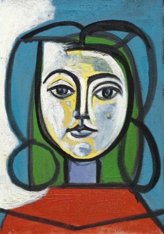 Tête de femme Portrait de Françoise by Pablo Picasso on artnet