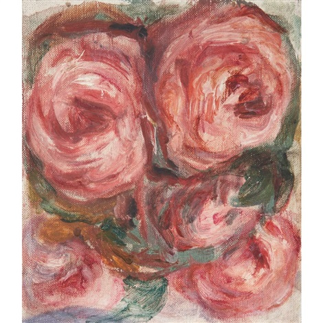 letude de cinq roses by pierre auguste renoir