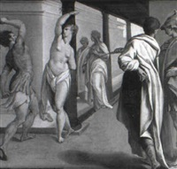 the flagellation of a saint by andrea boscoli
