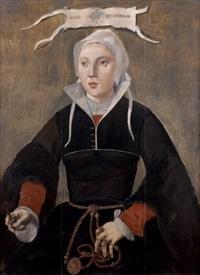 portrait de margareta huy hopcooper by maerten jacobsz van heemskerck