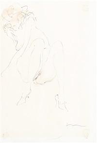 weiblicher akt by lucio fontana