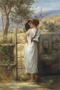 at the fountain by henryk siemiradzki