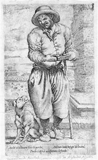 il mendicante cieco con cane seduto by pietro faccini