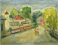 landscape of campulung by dan bajenaru