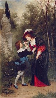a noble suitor by ludwig (hofmann-zeitz) hofmann