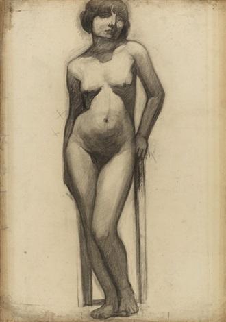 etude pour le portrait de litalienne study by roger de la fresnaye