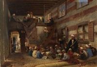 school in cairo by konstantin egorovich makovsky