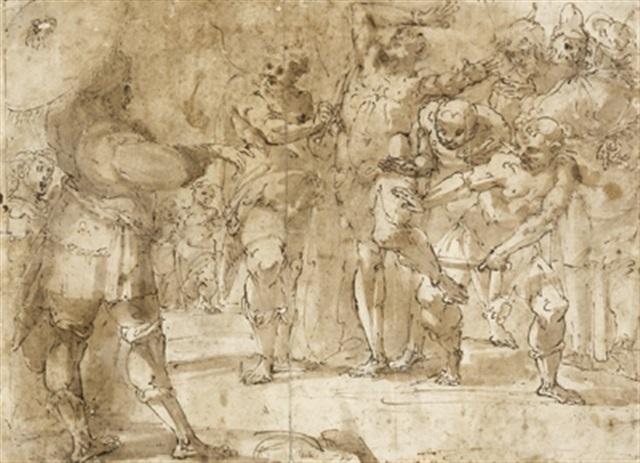 das martyrium des hl bartholomeus by giulio benso
