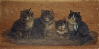 a group of four kittens by bessie bamber