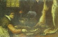 intérieur de cuisine aux poissons et aux gibiers by alessandro de loarte