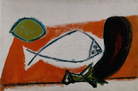 Nature morte au poisson by Pablo Picasso on artnet