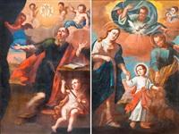 szent család és férfi szent (templomi zászló) by s. haidl