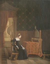 la reine marie d'écosse après la sentence (?) by jean baptiste vermay