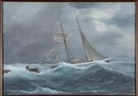 veliero in navigazione by antonio de simone