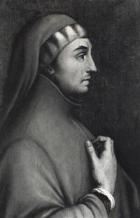 ritratto di francesco petrarca (?) by cristofano di papi dell' altissimo