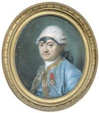 portrait d'homme au bandeau noir, chevalier de l'ordre de saint-louis by adélaïde labille-guiard