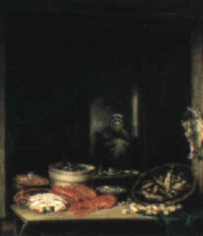the fishmongers stall by elias childe