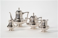 coffee/tea service (set of 4) by gerritsen & van kempen (co.)