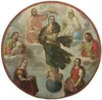 le couronnement de la vierge by mexican school (17)