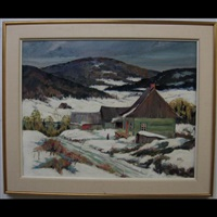 winter in the laurentians by jack young