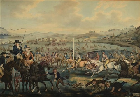 horse race by thomas rowlandson