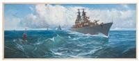 ausfahrt der flotte by leonid melnikov