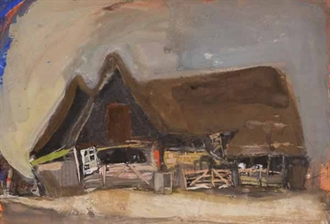 windmill, barn and cottage by joan kathleen harding eardley