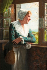 girl by a window by ernst anders