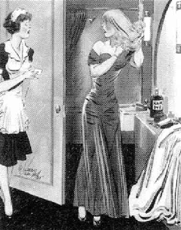 choosing hair color to match the suitor by e. simms campbell