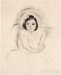 margot wearing a bonnet (no. 5 by mary cassatt