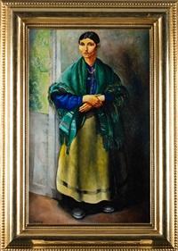 kobieta w zielonej chuście by moïse kisling
